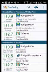 Gasbuddy on Android.