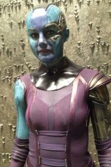Olivia Jackson working as a stunt double for Karen Gillan in <i>Avengers: Age of Ultron</i>.