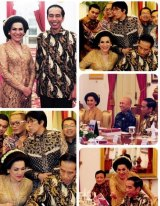 A photo montage of the dinner at Joko Widodo's palace posted by Dorce on her Instagram account.