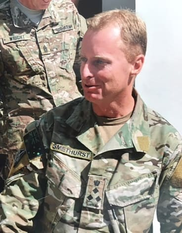 Lieutenant Colonel Mark Smethurst, who in May 2006 was leader of Special Operation Task Group in Afghanistan.