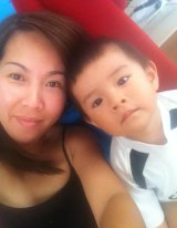 Lisa Le and her two-year-old son William.