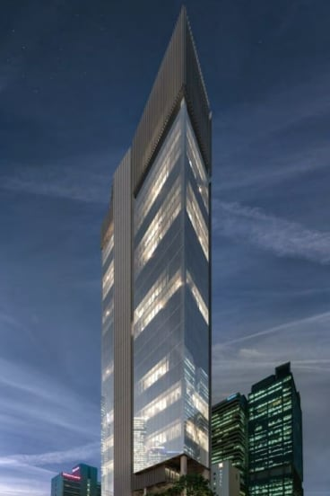A design image for the proposed development at the Grosvenor Hotel, Brisbane.