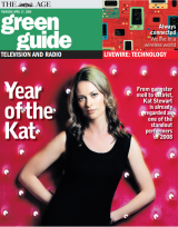 Stewart on the cover of The Age's Green Guide, in 2008.