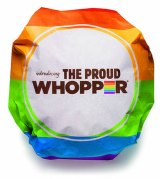 The Burger King pride whopper - viewed by many as a marketing stunt.