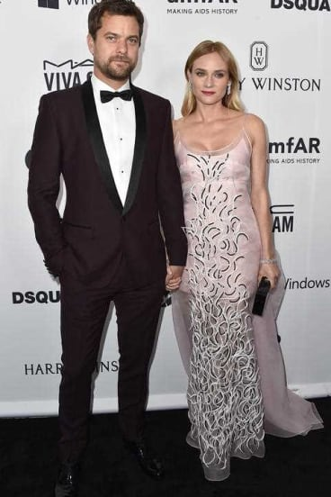 Joshua Jackson, left, and Diane Kruger arrive at the amfAR Inspiration Gala in 2015.