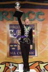 Conor Simpson winning gold at the World Irish Dancing Championships in Montreal.