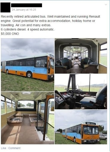 An advertisement for an old ACTION bus posted on Facebook.