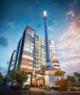 Pradella plans to make South Brisbane's Skyneedle the central figure of a new residential development.