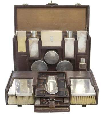 An art deco Louis Vuitton gentleman's valise nécessaire.