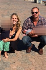 Tanja Ebert pictured with her husband Michael Burdon and their two children has been missing since last week.