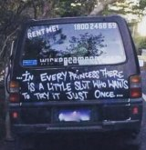 One of the controversial Wicked Campers slogans.
