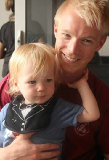 Aidan with dad Dan Loden who is also campaigning to raise funds for research into the disease