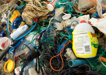 Dirty habit: plastic not so fantastic litters our oceans and beaches.
