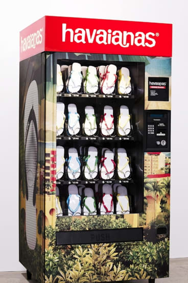Our vending machines define us: Australia loves thongs out of its vending machines as do the Japanese like un-fresh panties by coin or credit card.