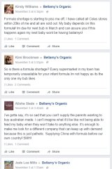 Parents are expressing their outrage at the shortage on Bellamy's Organic's Facebook page.