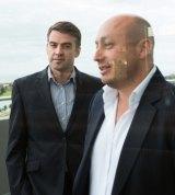 Larry Kestelman (right) with Ilya Frolov from Oxygen Ventures.