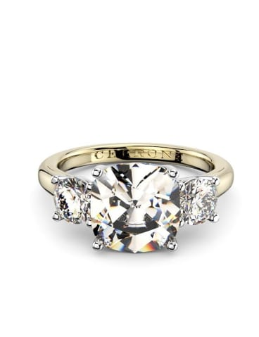 A digital design of a Markle inspired ring designed by Cerrone Jewellery House, in Sydney. The company has anticipated a high demand for engagement rings in a similar style to Markle's.