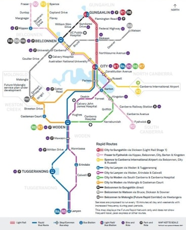 Canberra's new rapid bus network has been unveiled.