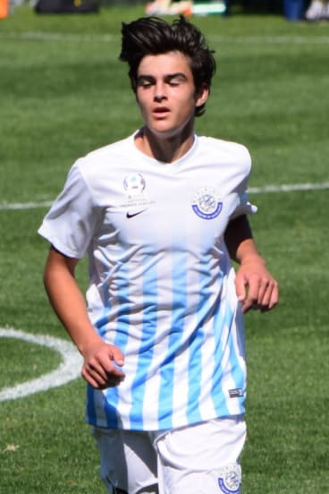 Canberra FC junior and FFA Centre of Excellence player Marc Tokich.