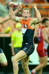 Ex-GWS player Sam Frost i son his way to Melbourne.