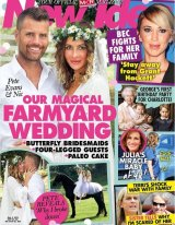 """The My Kitchen Rules judge and the """"Nutrition Mermaid"""" announced news of their """"magical farmyard"""" wedding with a front cover story for New Idea magazine on Monday."""