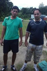 Mehdi and Mohammad after they were released by PNG police on Monday.