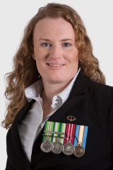 Bridget Clinch is running in the seat of Brisbane for the Veterans Party.
