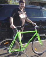 Alberto Paulon and the bicycle he was riding when he died.