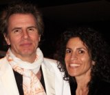 Big thing: Nikki Laski has been crazy about Duran Duran since seeing them on Countdown three decades ago. Here she is with bass player John Taylor.