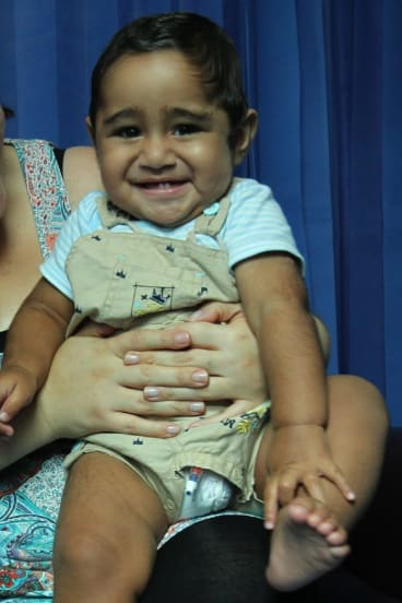 Kini's successful treatment means he'll live a healthy life.