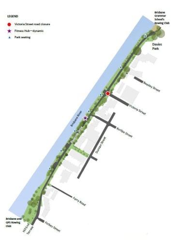Brisbane City Council's planned changes to the Riverside Drive Parklands.