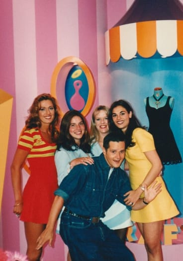 Christopher Graf with staff in his Chapel Street boutique in the 1990s.