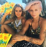 Stephanie Smith posts a photo with Tiger Mist co-founder Alana Pallister on Instagram.