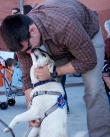 Eric Yarger is reunited in the US in 2014 with  Snickle Fritz. A US charity, Puppy Rescue Mission, fundraised to cover the cost of getting the dog out of Afghanistan, which included an 800km taxi trip as well as plane rides.