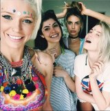 A photo from Sahara Ray's Instagram account with Tiger Mist co-founder Alana Pallister.