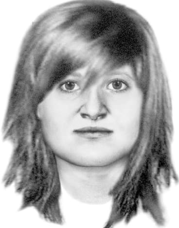 A facial reconstruction of the woman, now identified as Karlie Jade Pearce-Stevenson, whose remains were found in the Belanglo State Forest in 2010.