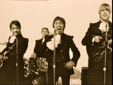 The real Easybeats in a scene from Peter Clifton's documentary Easy Come Easy Go.