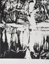 Andrew Southall's <i>The River No 5</i>, lumograph on paper.