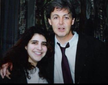 Karen Freedman with Paul McCartney, who she has seen play 111 times.
