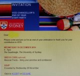 Changed: The invite to the Mexican-themed party at Sydney University.