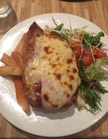 """The Shaftston Hotel's """"Shane Watson"""" of parmigianas - all the ingredients were right but it just fell short of excellence."""