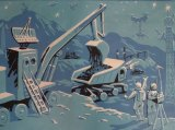Deep Space Mining by North Korean artist Kim Guang Nan, on show at Anna Schwartz Gallery.