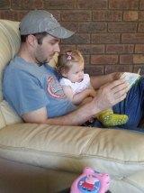 Brenton Walsh with daughter Rosie.