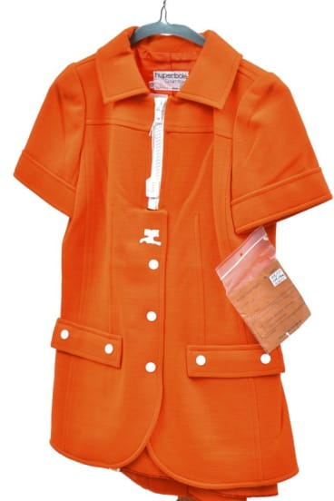 Industrial design: A two-piece Courrèges acrylic and wool suit from 1965.