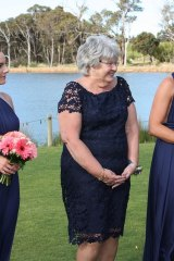 Joan said she had tears in her eyes watching the couple tie the knot.