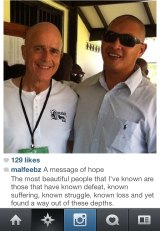 An Instagram photo of Pastor Mal Feebrey with Bali 9 member Andrew Chan.