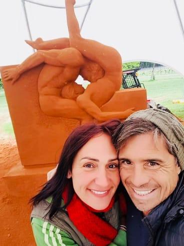 Rosie Gallicchio and her partner Leo Vamvalis started the Sand Art Gallery.