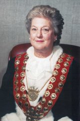 Elaine Cassidy in her mayoral robes.