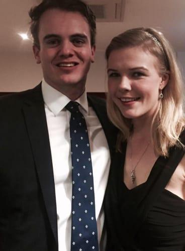 Marcus Bastiaan with Stephanie Ross.