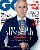 The latest edition of <i>GQ</i> magazine featuring Communications Minister Malcolm Turnbull.